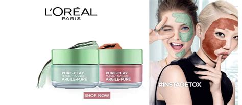 L Oreal Clay Mask 50gr l oreal clay mask exfoliate refine pores 50 g