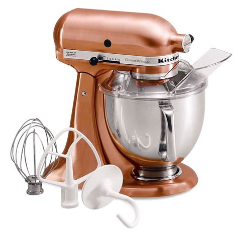 Satin Copper Kitchenaid Mixer kitchenaid ksm152pscp stand mixer w pouring shield 5