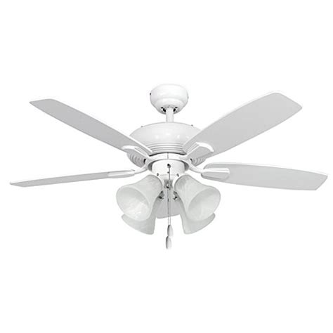 42 inch dorset 4 light white ceiling fan bed bath beyond