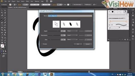 adobe illustrator cs6 quiz make a calligraphic brush in adobe illustrator cs6 visihow