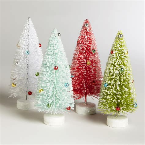 bottlebrush trees set of 4 world market