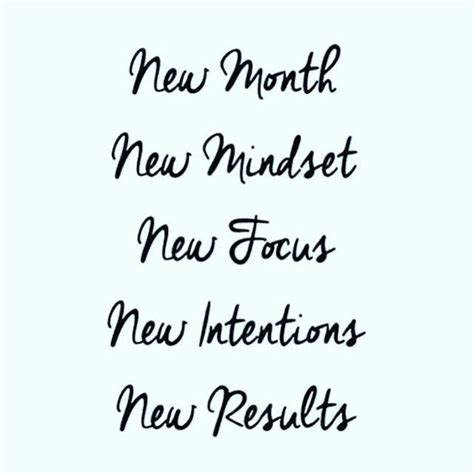 month  mindset  focus  intentions  results    fitness goals