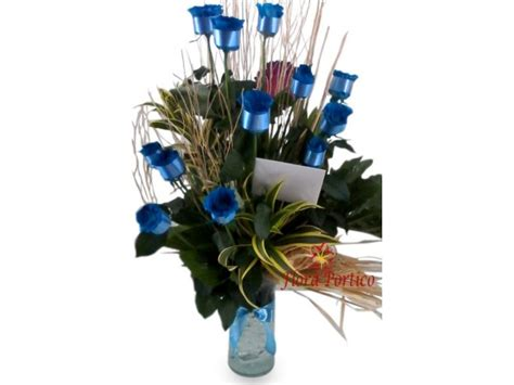 Flower Vase Shopping by Flower Shop Philippines 1 Dozen Blue Roses In A Vase
