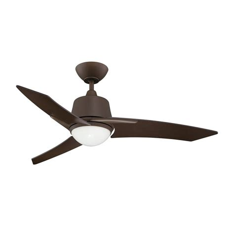 3 Blade Ceiling Fan With Light Shop Kendal Lighting Scimitar 44 In Brushed Bronze Downrod Mount Indoor Ceiling Fan With