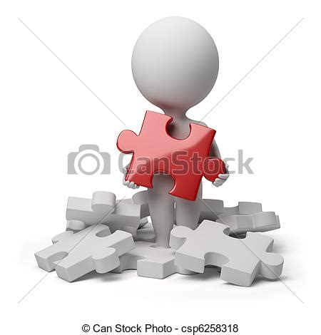 can stock photo clipart illustration de 3d petit gens trouv 233 puzzle 3d