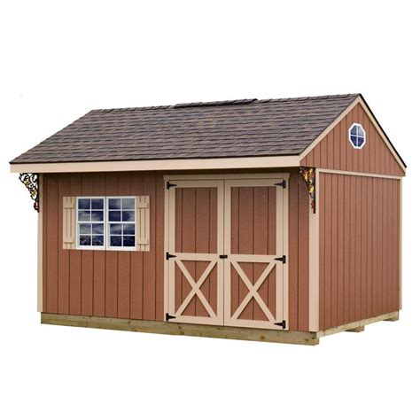 metal shed kits best barns cypress 16 ft x 10 ft wood storage shed kit cypress 1610 the home depot