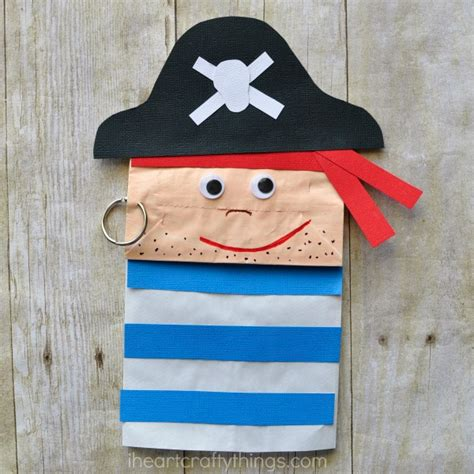 How To Make Pirate Paper - paper bag pirate craft for i crafty things