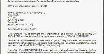 appreciation letter to bank customer customer appreciation letter sle
