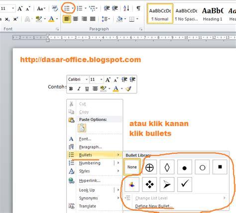 membuat bullet pada html membuat bullet and numbering di word