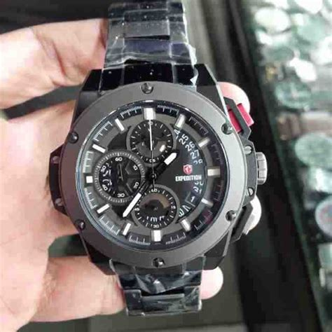 Jam Tangan Pria Expedition 6381 Silver Black Original Murah jual jam tangan pria expedition 6696 black steel baru