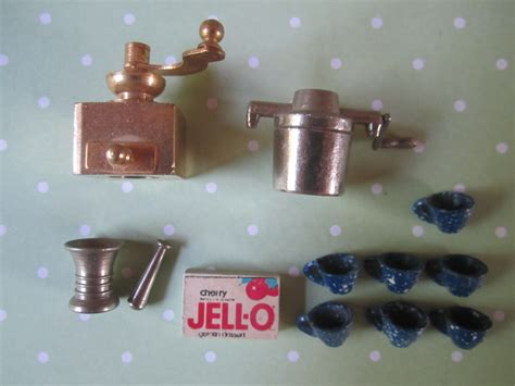 vintage dollhouse kitchen miniature accessories haute juice