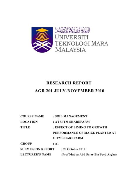 format proposal uitm research report