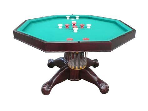 table octagon  table  slate bumper pool poker  dining table  mahogany