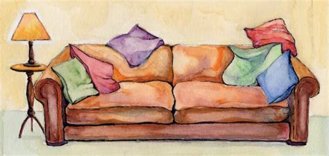 sofa painting ruth ilson psychotherapist counsellor hackney north