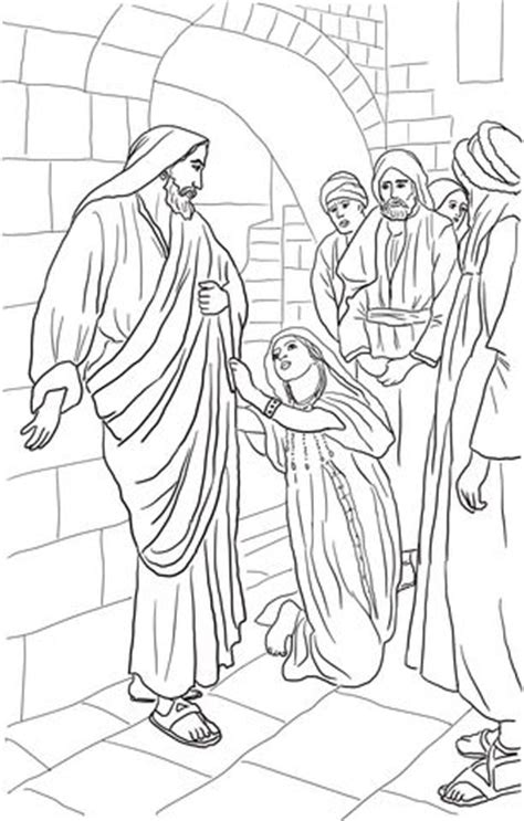 coloring page of jesus healing woman pinterest the world s catalog of ideas
