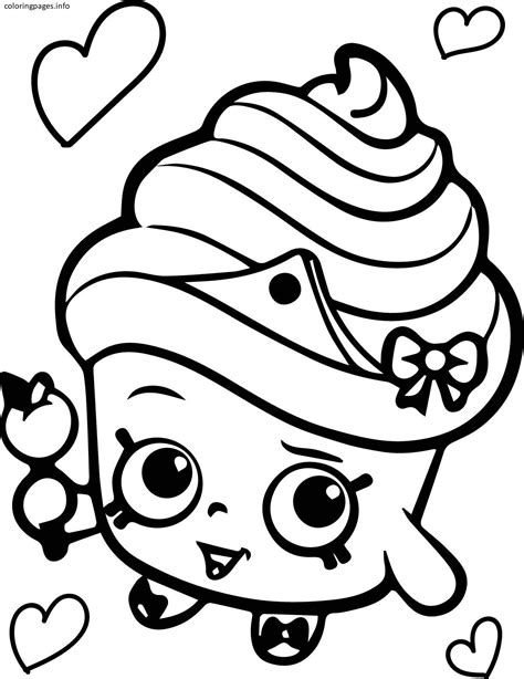 minion cupcake coloring page shopkins coloring pages cupcake queen shopkins coloring