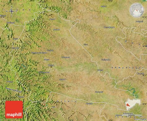 pune geographical map satellite map of pune