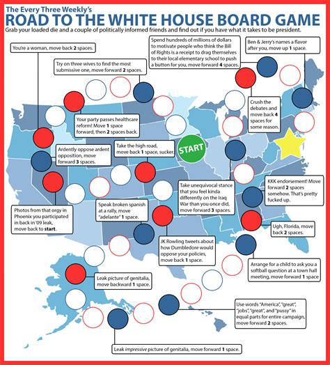 road to white house road to the white house board game the every three weekly