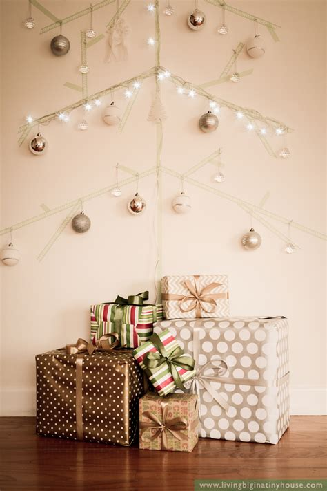 space saving wall christmas tree idea living big in a