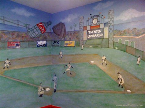 baseball wall mural sports wall murals by colette sports themed rooms