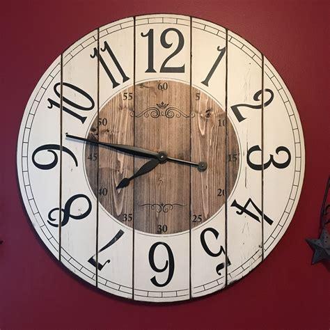 large wall clock 28 inch farmhouse clock rustic wall clock large wall clock