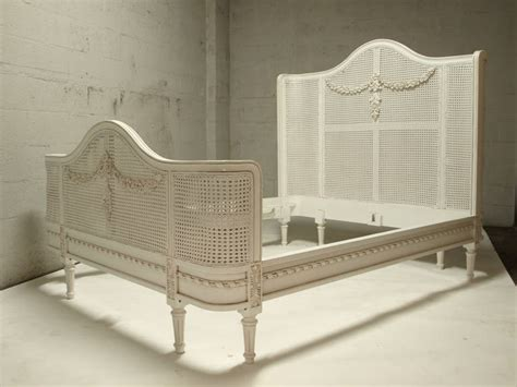 french cane bed french louis xv style cane bed in king at 1stdibs