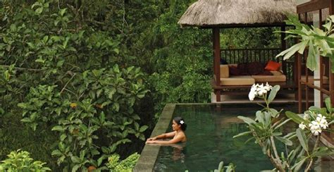 hanging infinity pools in bali multi level infinity pool at ubud resort in bali enpundit