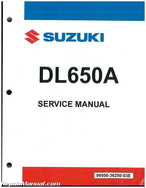 Suzuki Service Parts 2017 Suzuki Dl650a Motorcycle Service Manual