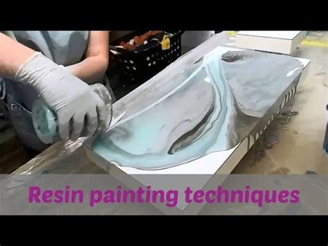mixing acrylic paint with resin on canvas resin painting techniques