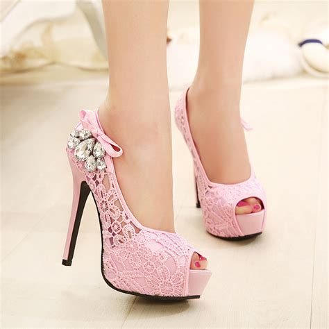 beautiful high heels beautiful lace peep toe high heels shoes on luulla