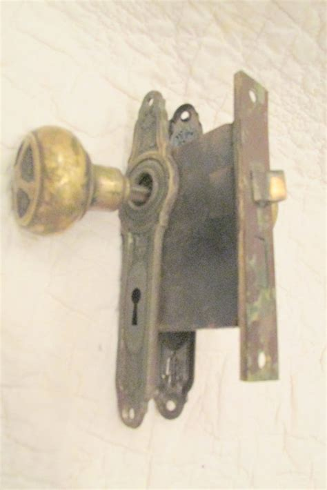 Matching Door Locks by Vintage Brass Door Knobs Matching Door Plates And By