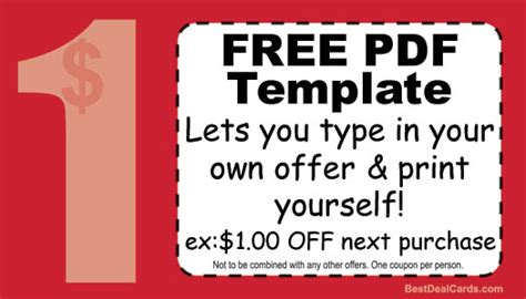 free coupon card template free customer loyaly cards print your own template
