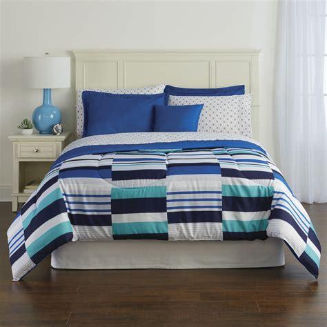 colormate comforter set colormate complete bedding set broken stripe home