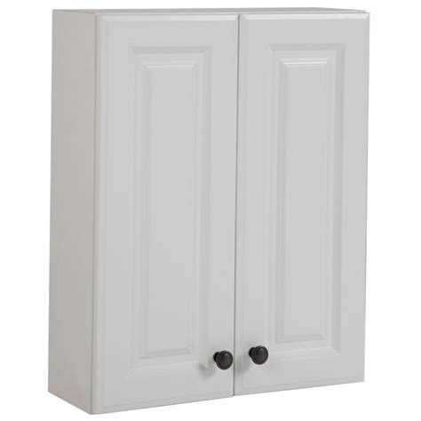 over the toilet wall cabinet white glacier bay regency 21 in w x 26 in h x 8 in d over the