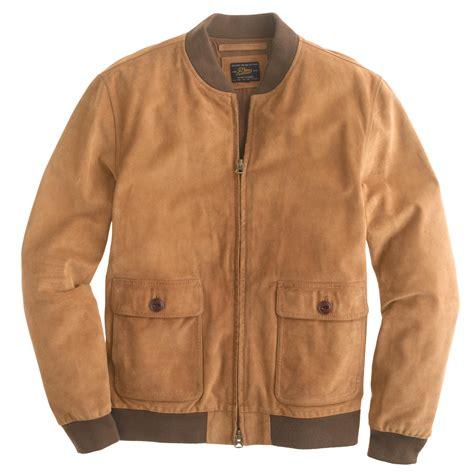 Jaket Original Merek J Crew suede bomber jacket j crew