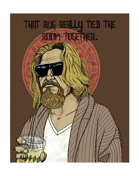 The Dude S Rug by The Dude Alixandra Cbell Illustration