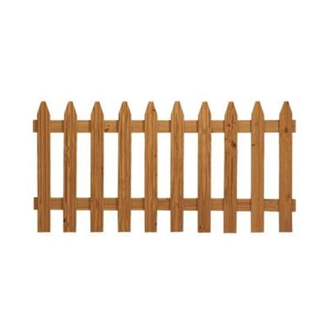 picket fence sections home depot 3 ft x 6 ft pressure treated cedar tone moulded fence