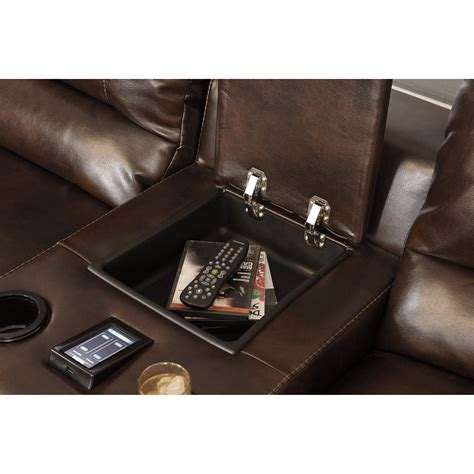 reclining sectional sofa with and heat signature design by hallettsville power reclining