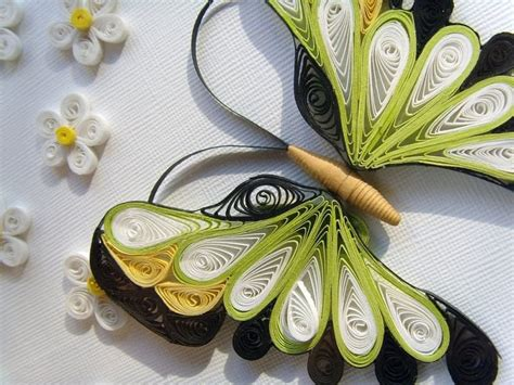 Paper Craft Design - beautiful butterfly paper quilling designs creative