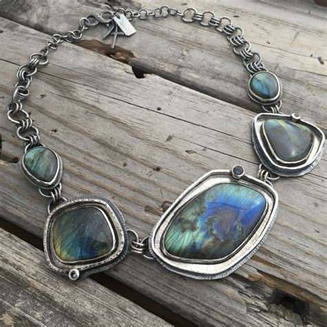 One Of A Handmade Jewelry - sterling silver labradorite necklace one of a jewelry