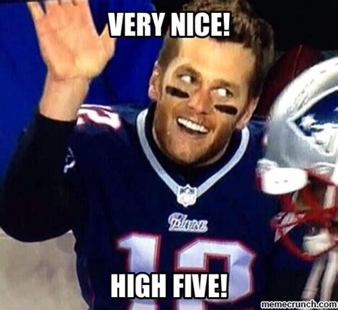 High Five Meme - tom brady high five