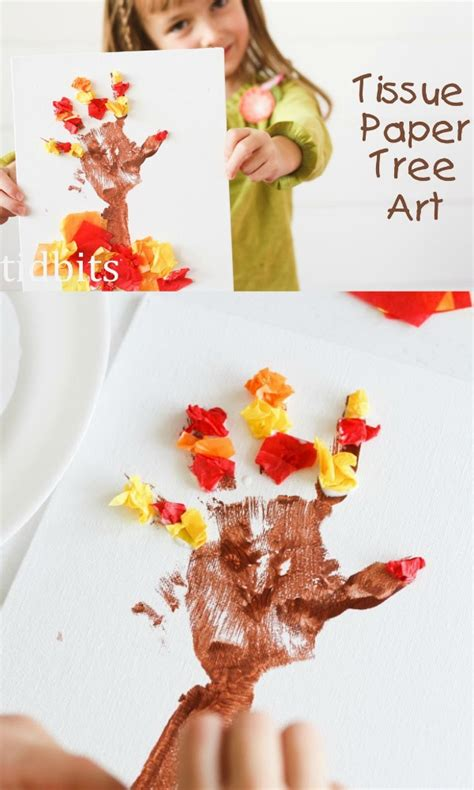 Tissue Paper Tree Craft - tissue paper tree u create