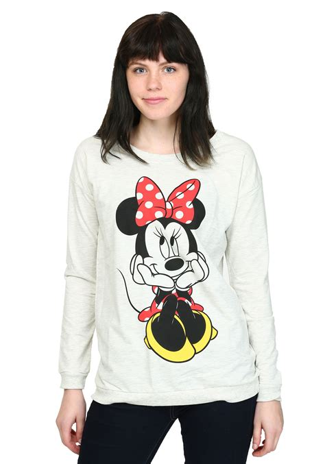 Minnie Blouse womens minnie mouse sweet sit terry pullover