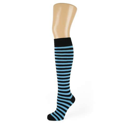 thin striped knee high socks ebay