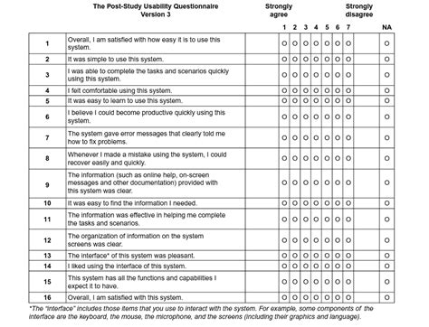 system usability scale template post study usability questionnaire pssuq the pssuq is a