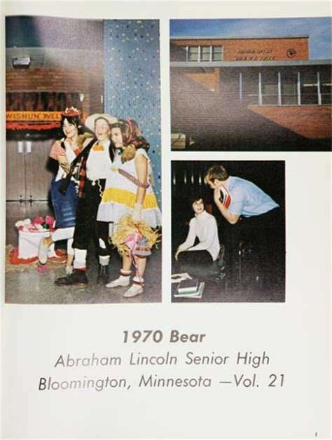 lincoln high school mn explore 1970 lincoln high school yearbook bloomington mn