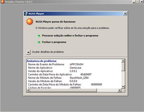 O Audio Do Meu Notebook Parou De Funcionar Windows 8 by Resolvido Erro Simples Rgss Parou De Funcionar