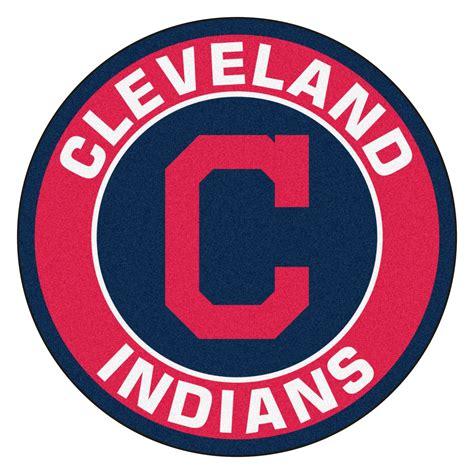 mlb logo rugs fanmats mlb cleveland indians roundel mat 2 3 x