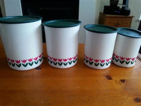 set of 3 sweet vintage honeycomb canisters tupperware tulip canister set vintage so sweet victoria
