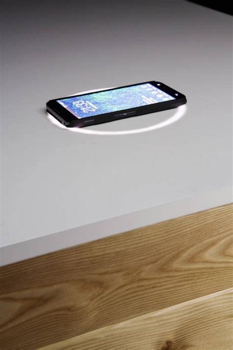 designer desk  built  wireless charging american